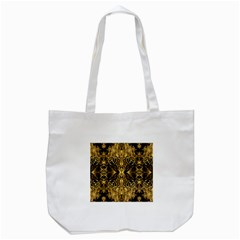 Beautiful Gold Brown Traditional Pattern Tote Bag (white)