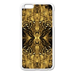 Beautiful Gold Brown Traditional Pattern Apple Iphone 6 Plus/6s Plus Enamel White Case