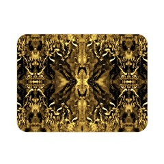 Beautiful Gold Brown Traditional Pattern Double Sided Flano Blanket (mini)