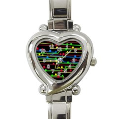 Stay In Line Heart Italian Charm Watch by Valentinaart