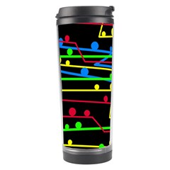 Stay In Line Travel Tumbler by Valentinaart