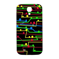 Stay In Line Samsung Galaxy S4 I9500/i9505  Hardshell Back Case by Valentinaart