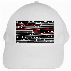 Stay In Line White Cap by Valentinaart