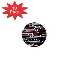 Stay In Line 1  Mini Buttons (10 Pack)  by Valentinaart