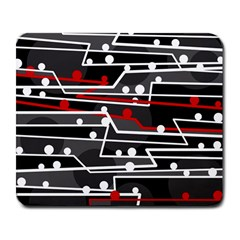Stay In Line Large Mousepads by Valentinaart