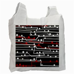 Stay In Line Recycle Bag (two Side)  by Valentinaart