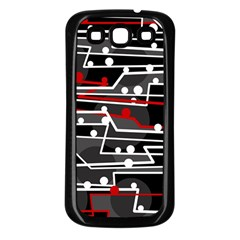 Stay In Line Samsung Galaxy S3 Back Case (black) by Valentinaart