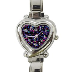 Purple Galaxy Heart Italian Charm Watch by Valentinaart