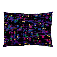 Purple Galaxy Pillow Case (two Sides) by Valentinaart