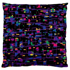 Purple Galaxy Large Cushion Case (one Side) by Valentinaart