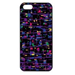 Purple Galaxy Apple Iphone 5 Seamless Case (black) by Valentinaart