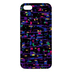 Purple Galaxy Apple Iphone 5 Premium Hardshell Case by Valentinaart