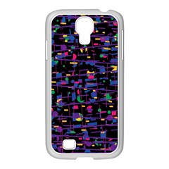 Purple Galaxy Samsung Galaxy S4 I9500/ I9505 Case (white) by Valentinaart