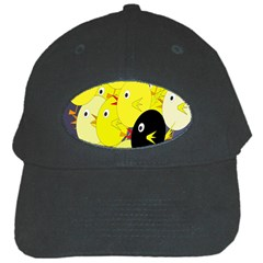 Yellow Flock Black Cap by Valentinaart