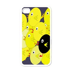 Yellow Flock Apple Iphone 4 Case (white) by Valentinaart