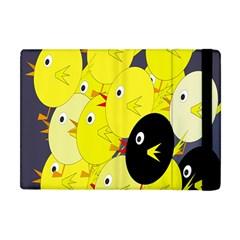 Yellow Flock Apple Ipad Mini Flip Case by Valentinaart