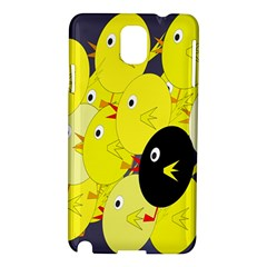 Yellow Flock Samsung Galaxy Note 3 N9005 Hardshell Case by Valentinaart