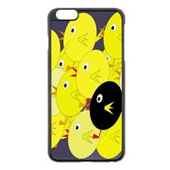 Yellow Flock Apple Iphone 6 Plus/6s Plus Black Enamel Case by Valentinaart