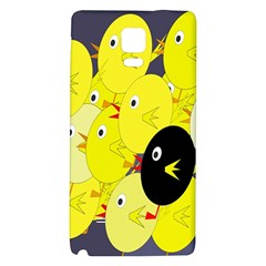 Yellow Flock Galaxy Note 4 Back Case by Valentinaart