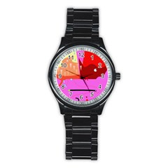 Mythology  Stainless Steel Round Watch