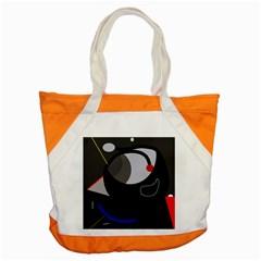 Gray Bird Accent Tote Bag by Valentinaart