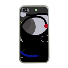 Gray Bird Apple Iphone 4 Case (clear) by Valentinaart