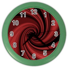 Elegant red twist Color Wall Clocks
