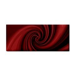 Elegant Red Twist Hand Towel by Valentinaart