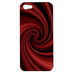 Elegant Red Twist Apple Iphone 5 Hardshell Case by Valentinaart