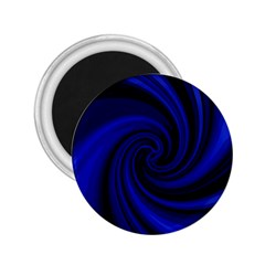 Blue Decorative Twist 2 25  Magnets by Valentinaart