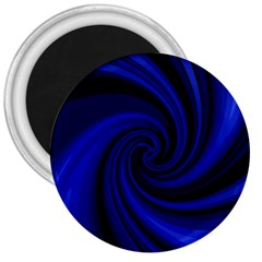 Blue Decorative Twist 3  Magnets by Valentinaart