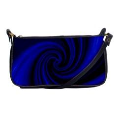 Blue Decorative Twist Shoulder Clutch Bags by Valentinaart