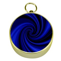 Blue Decorative Twist Gold Compasses by Valentinaart