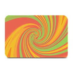 Green And Orange Twist Plate Mats by Valentinaart