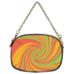 Green And Orange Twist Chain Purses (one Side)  by Valentinaart