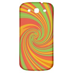 Green And Orange Twist Samsung Galaxy S3 S Iii Classic Hardshell Back Case by Valentinaart