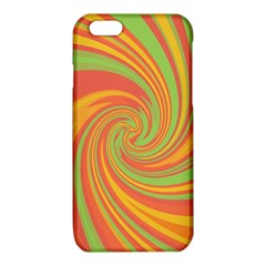 Green and orange twist iPhone 6/6S TPU Case by Valentinaart