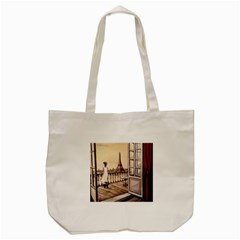 Paws For Thought  Paris Tote Bag (cream) by ArtByThree