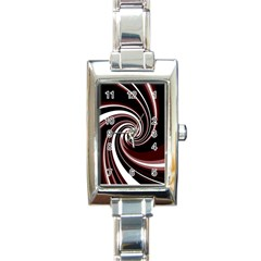 Decorative Twist Rectangle Italian Charm Watch by Valentinaart