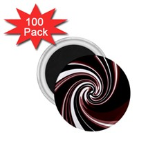 Decorative Twist 1 75  Magnets (100 Pack)  by Valentinaart