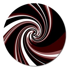 Decorative Twist Magnet 5  (round) by Valentinaart