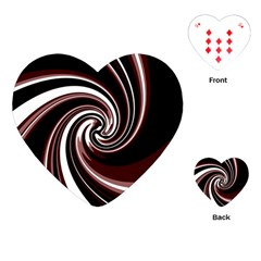 Decorative Twist Playing Cards (heart)  by Valentinaart