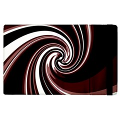 Decorative Twist Apple Ipad 3/4 Flip Case by Valentinaart