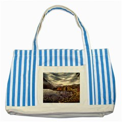 Italian Lake Garda Striped Blue Tote Bag by ArtByThree