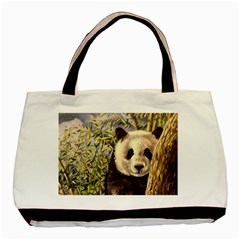 Panda Basic Tote Bag (two Sides) by ArtByThree