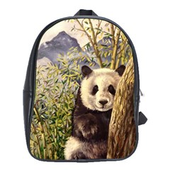 Panda School Bags(large)  by ArtByThree