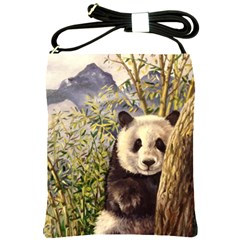 Panda Shoulder Sling Bags by ArtByThree