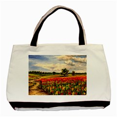 Poppies Basic Tote Bag by ArtByThree