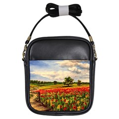 Poppies Girls Sling Bags by ArtByThree