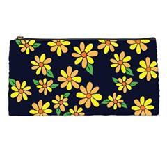 Daisy Flower Pattern For Summer Pencil Cases